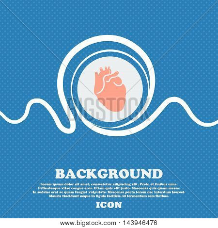 Human Heart Sign. Blue And White Abstract Background Flecked With Space For Text And Your Design. Ve