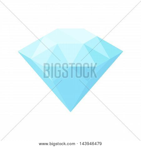 Diamond sign. Vector flat illustration isometric icon isolated on a white background