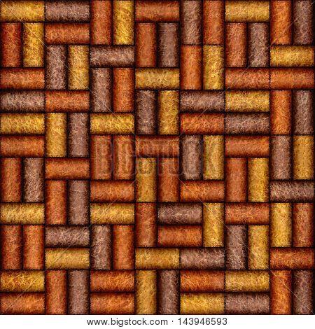 Decorative pattern of wine bottles corks - seamless background - wall panel pattern - Carpathian Elm wood texture