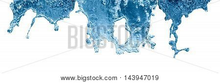 Nice abstract water flowing on white background