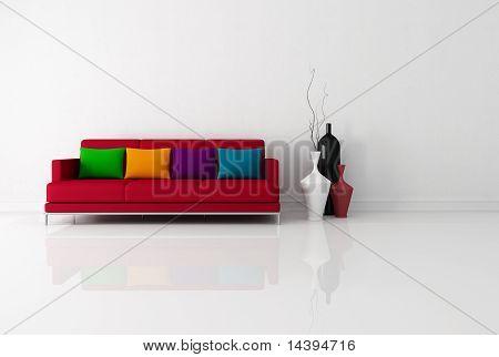 Bright Minimalist Living Room