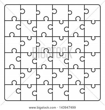 Pattern line Puzzle. Vector illustration for background design