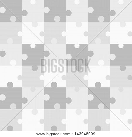 Seamless grey pattern Puzzle. Vector illustration for background design