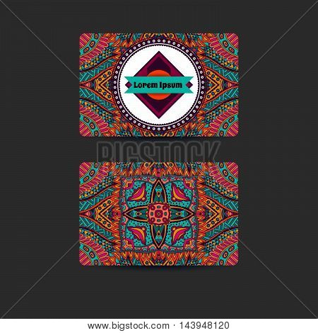 abstract art card template design doodle background