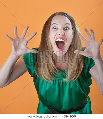 Woman Trying To Scare Others