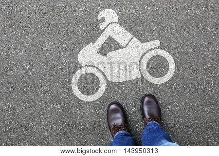 Man People Motorcycle Motorbike Rider Motor Bike Road Traffic