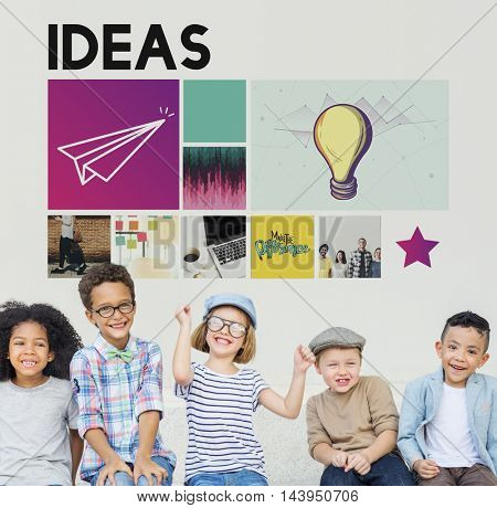 Ideas Imagination Inspiration Thoughts Graphic Concept