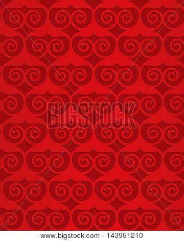 Red Swirly Heart Grid