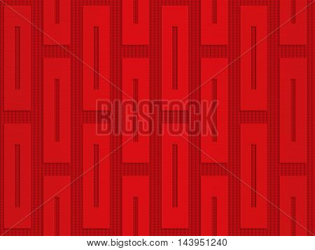 Red Vertical Rectangles On Checkered Background