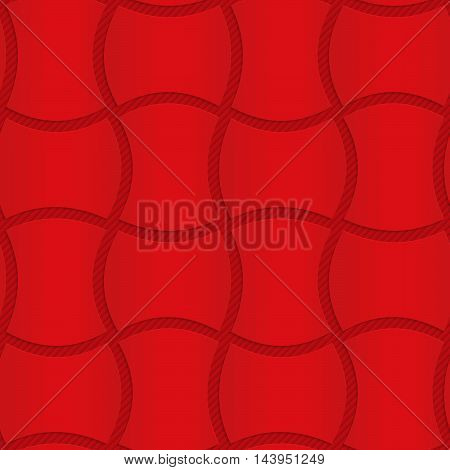Red Wavy Rectangles