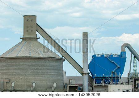 06 11 2014 Kazakhstan Balkhash Lake. cement factory. Zhambyl cement