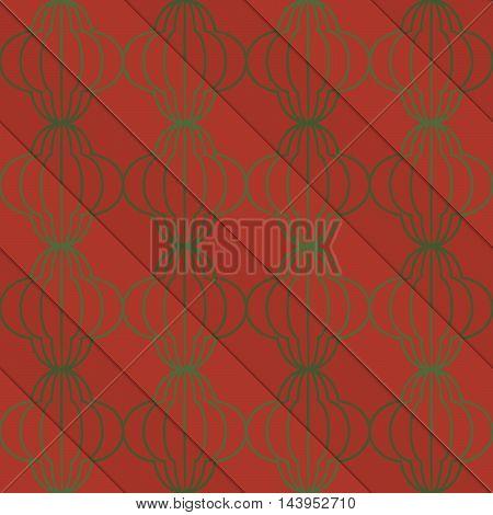 Retro 3D Brown Diagonal Striped Bulbs