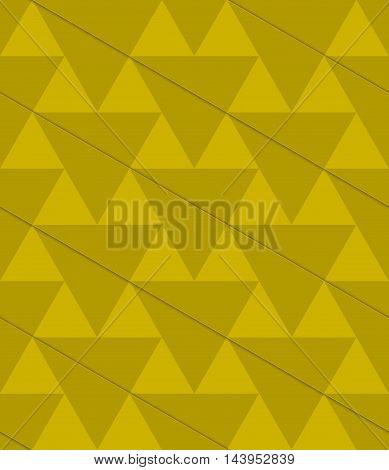 Retro 3D Green Diagonal Triangles
