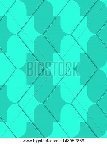 Retro 3D Green Zigzag