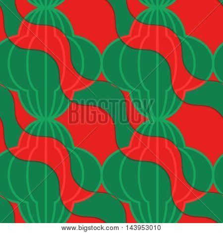 Retro 3D Tomato Diagonal Wavy Striped Bulbs