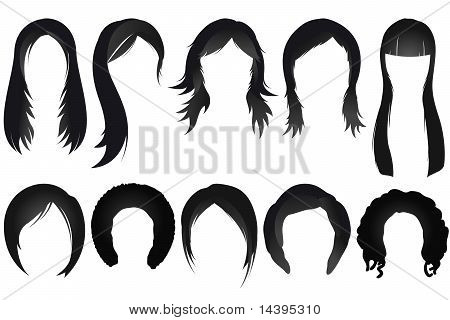 Conjunto de estilo de cabelo feminino