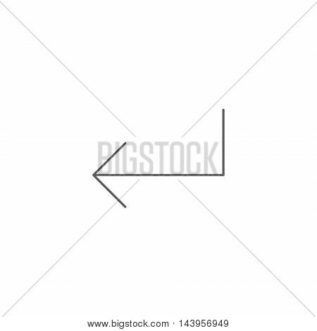 Vector illustration of enter key icon on the white background