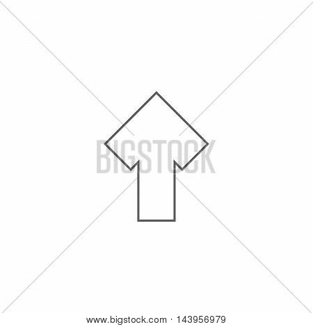 Vector illustration of up arrow icon on the white background