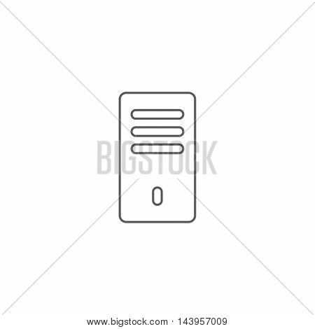 Vector illustration of system unit icon on the white background