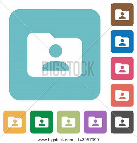 Flat folder owner icons on rounded square color backgrounds.