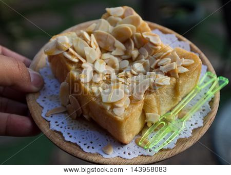 The Best thai Roti with many fruit.