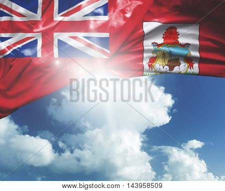 Bermuda flag on a beautiful day