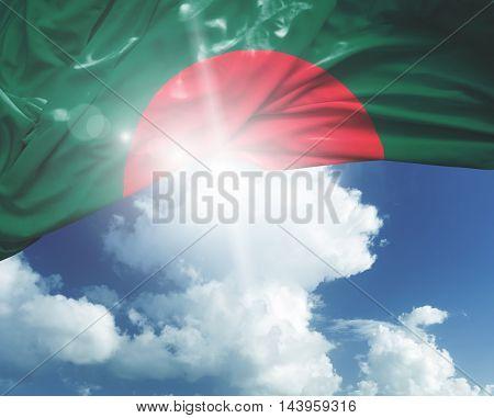 Bangladesh flag on a beautiful day