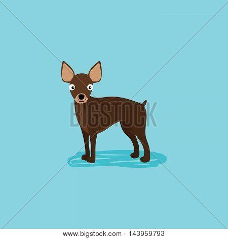 Vector cartoon dog for card design. Vector illustration