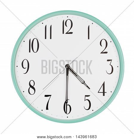 Half past four on the large round clock