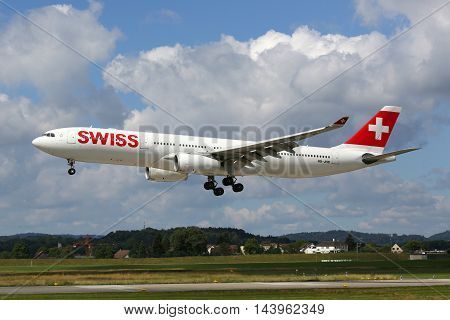 Swiss Air Lines Airbus A330-300 Airplane Zurich Airport
