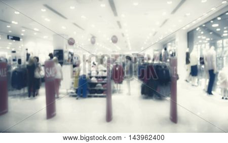 Blur store with bokeh background. Sale background