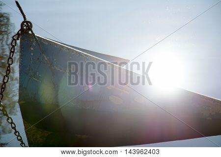 Sunk boat on the Vlasina lake images