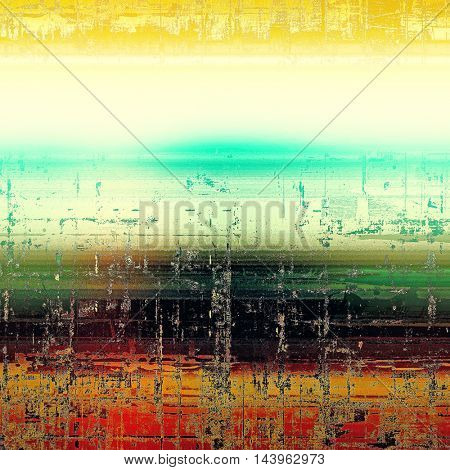 Retro colorful background or creative old style texture with different color patterns: green; blue; red (orange); yellow (beige); white; black