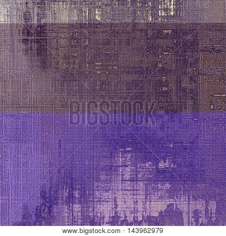 Old school aged texture or background for retro grunge design. With different color patterns: gray; purple (violet); yellow (beige); brown