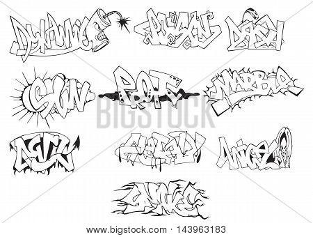 Create a Wild, Graffiti-Style Arrow Design. Graffiti arrows designs. Vector illustration.