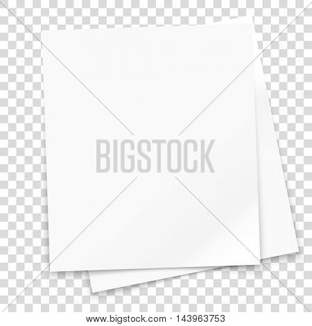 Vector paper frame isolated on transparent background. Vector illustration