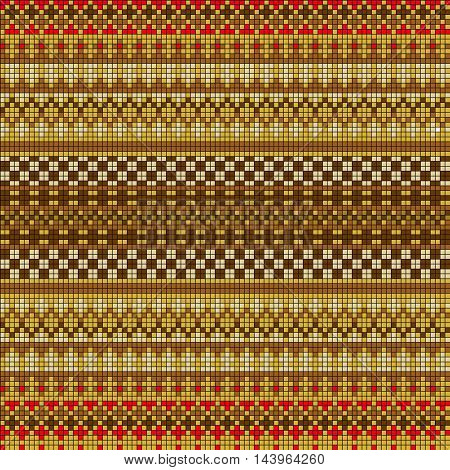 Ornamental seamless pattern. Ethnic ornament. Fabric pattern with a brown shade.