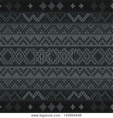 Ornamental seamless pattern. Ethnic ornament. Fabric pattern with a grey shade.