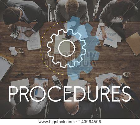 Procedures Business Action Analysis Development Concept
