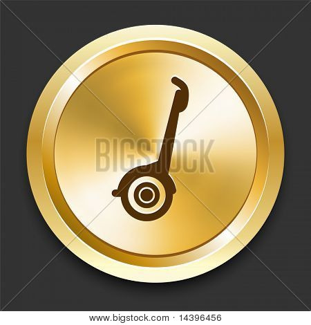 Segway on Golden Internet Button Original Illustration