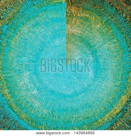 Spherical grunge texture, scratched surface or vintage background. With different color patterns: green; blue; red (orange); yellow (beige); brown; cyan