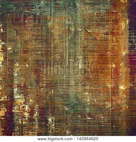 Ancient textured background or shabby backdrop. With different color patterns: gray; green; red (orange); purple (violet); yellow (beige); brown