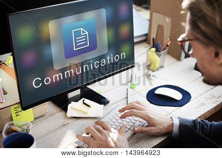 Business Organization Application Page Icon Concept
