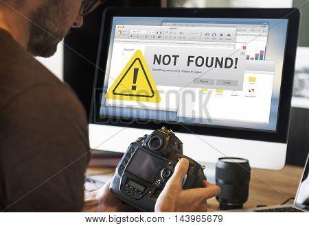 Not Found Failure Problem 404 Warning Error Concept