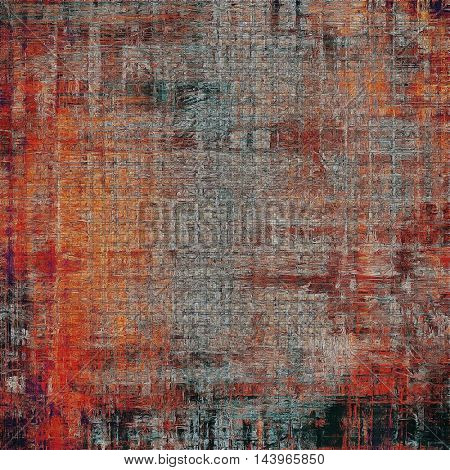 Retro vintage style elements on aged grunge texture. With different color patterns: gray; red (orange); brown; black; pink