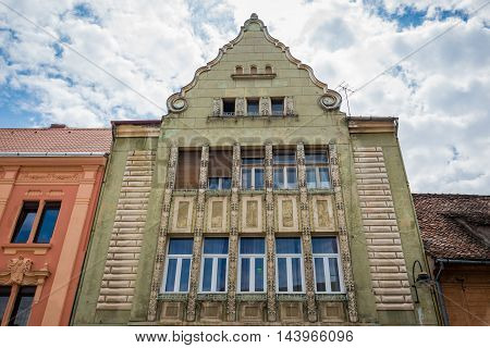 Tenement house at Republic Street in Brasov city in Romania