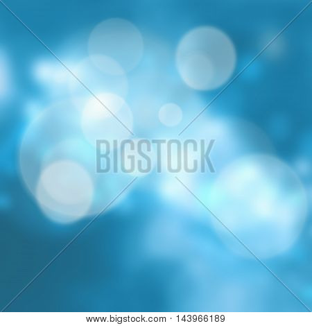 Blue light bokeh abstract christmas card background