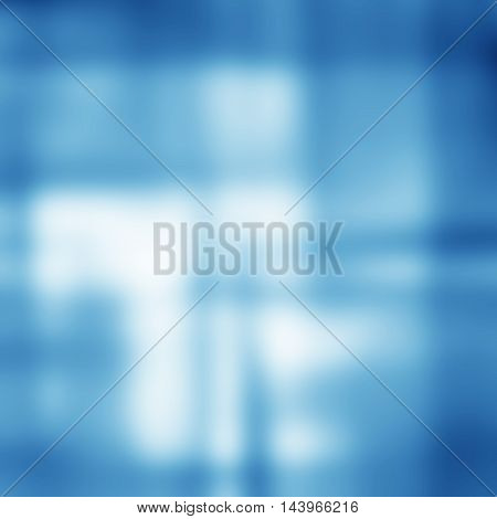 Blue blurred background. Abstract blur light card