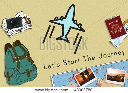 Travel Destination Journey Concept