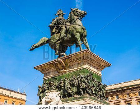 Vittorio Emanuele Ii Monument In Milan Hdr